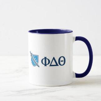 Phi Delta Theta - Blue Greek Lettters and Logo Mug