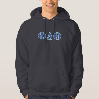 Phi Delta Theta Royal Blue and Baby Blue Letters Hoodie