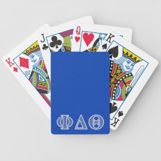 Phi Delta Theta Royal Blue Letters Bicycle Playing Cards