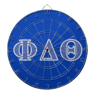 Phi Delta Theta Royal Blue Letters Dartboard