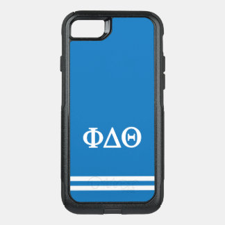 Phi Delta Theta | Sport Stripe OtterBox Commuter iPhone 8/7 Case