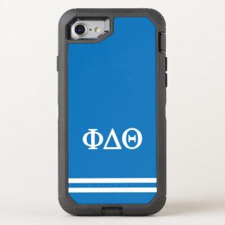Phi Delta Theta | Sport Stripe OtterBox Defender iPhone 8/7 Case