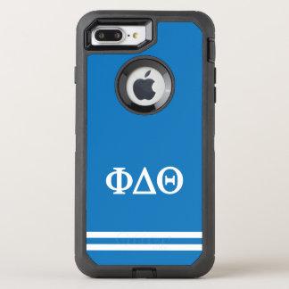 Phi Delta Theta | Sport Stripe OtterBox Defender iPhone 8 Plus/7 Plus Case