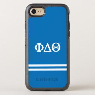 Phi Delta Theta | Sport Stripe OtterBox Symmetry iPhone 8/7 Case
