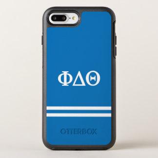 Phi Delta Theta | Sport Stripe OtterBox Symmetry iPhone 8 Plus/7 Plus Case