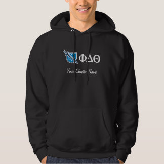 Phi Delta Theta - White Greek Lettters and Logo 2 Hoodie