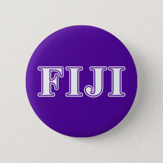Phi Gamma Delta Whie and Purple Letters 2 Inch Round Button