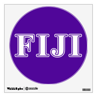 Phi Gamma Delta Whie and Purple Letters Wall Sticker