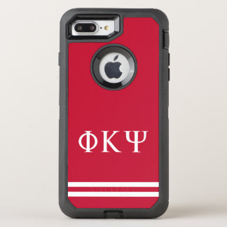 Phi Kappa Psi | Sport Stripe OtterBox Defender iPhone 8 Plus/7 Plus Case