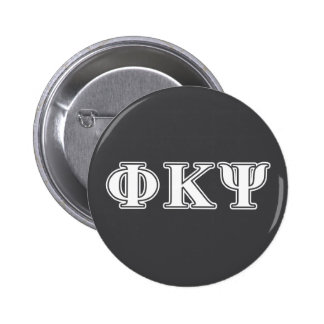 Phi Kappa Psi White Letters 2 Inch Round Button