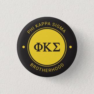 Phi Kappa Sigma   Badge 1 Inch Round Button