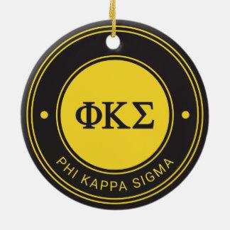 Phi Kappa Sigma   Badge Ceramic Ornament