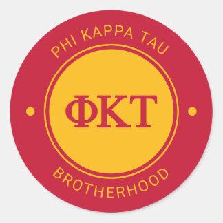 Phi Kappa Tau   Badge Classic Round Sticker