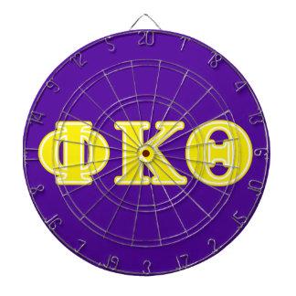 Phi Kappa Theta Yellow Letters Dartboard