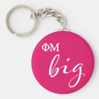Phi Mu Big Script Keychain