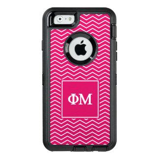 Phi Mu | Chevron Pattern OtterBox Defender iPhone Case