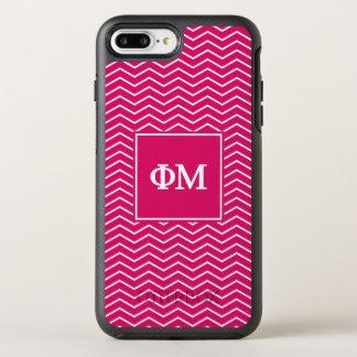 Phi Mu | Chevron Pattern OtterBox Symmetry iPhone 8 Plus/7 Plus Case
