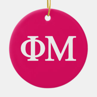Phi Mu Lil Big Logo Ceramic Ornament