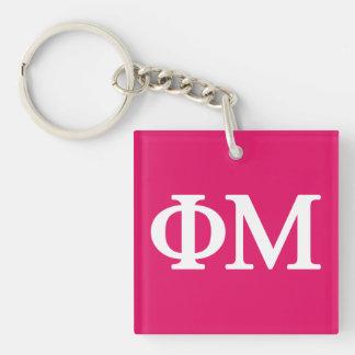 Phi Mu Lil Big Logo Keychain