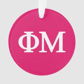 Phi Mu Lil Big Logo Ornament