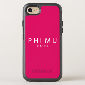 Phi Mu Modern Type OtterBox Symmetry iPhone 8/7 Case