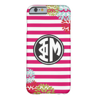 Phi Mu | Monogram Stripe Pattern Barely There iPhone 6 Case