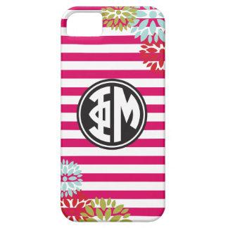 Phi Mu | Monogram Stripe Pattern iPhone 5 Cover