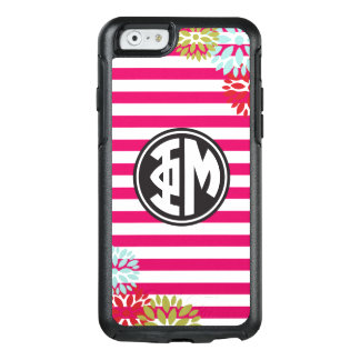Phi Mu | Monogram Stripe Pattern OtterBox iPhone 6/6s Case