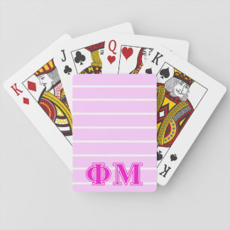 Phi Mu Pink/Purple Letters Playing Cards
