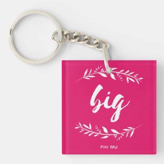 Phi Mu Wreath Big Keychain