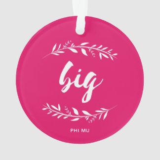Phi Mu Wreath Big Ornament
