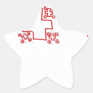 Phi See Thru Fractal Trees Star Sticker