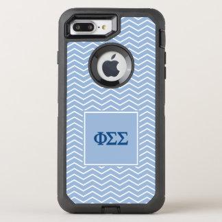 Phi Sigma Sigma | Chevron Pattern OtterBox Defender iPhone 8 Plus/7 Plus Case