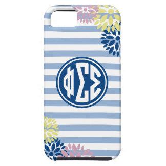 Phi Sigma Sigma | Monogram Stripe Pattern iPhone 5 Case