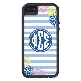 Phi Sigma Sigma | Monogram Stripe Pattern iPhone 5 Cover