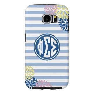 Phi Sigma Sigma | Monogram Stripe Pattern Samsung Galaxy S6 Cases