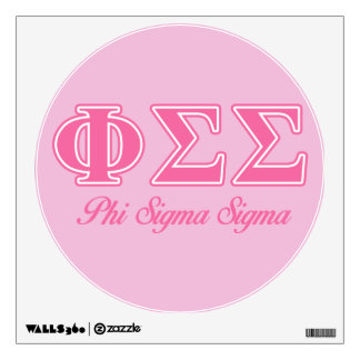 Phi Sigma Sigma Pink Letters Wall Decal