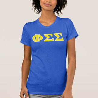 Phi Sigma Sigma Yellow Letters T-Shirt