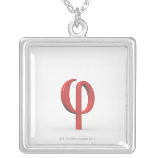 Phi Silver Plated Necklace