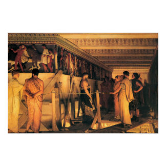 Phidias Shows Friends the Parthenon Frieze Poster