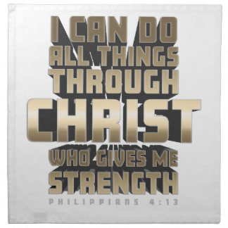 Phil4:13 I can do All things through Christ Napkin