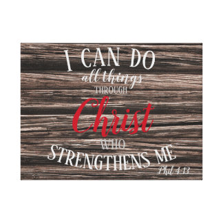 Phil 4:13 I Can Do... Canvas Print