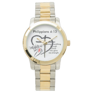 Phil 4:13 Men's Gold/Silver Watch