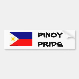 phil flag, PINOY PRIDE Bumper Sticker