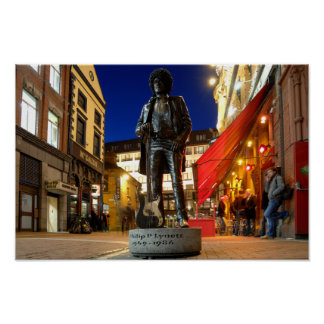 Phil Lynott  Sculpture/ Dublin Poster