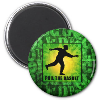 Phil The Basket 2 Inch Round Magnet