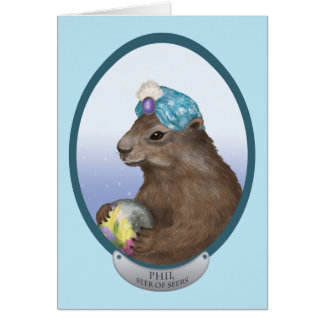 Phil The Psychic Groundhog Card