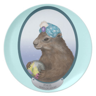 Phil the Psychic Groundhog Predicts the Future Plate