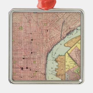 Philadelphia 5 Silver-Colored square ornament