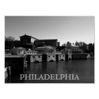 Philadelphia Art Museum and Water Works Poster
